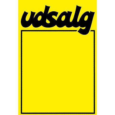 """Skilte """"Udsalg""""med fed skrift A3, 25 stk/pakke"""