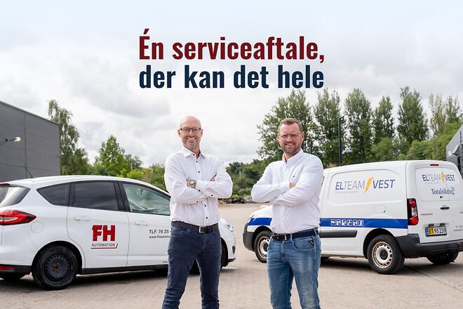 El-team Vest og FH Automation lancerer nyt, fælles servicekoncept