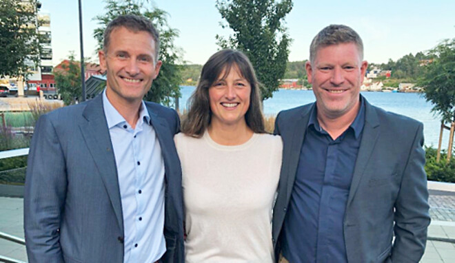 Håvard Moe, styreleder i Future Materials, Aslaug Hagestad Nag, administrerende\ndirektør i Future Materials og Kjetil Larsen, administrerende direktør i Norner.