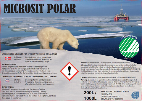 Rig wash / Offshore rengjøring - Microsit Polar fra Norkem - Rig wash, rengjøring offshore