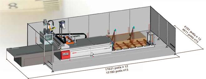 Brugt nesting CNC celle SCM Pratix N