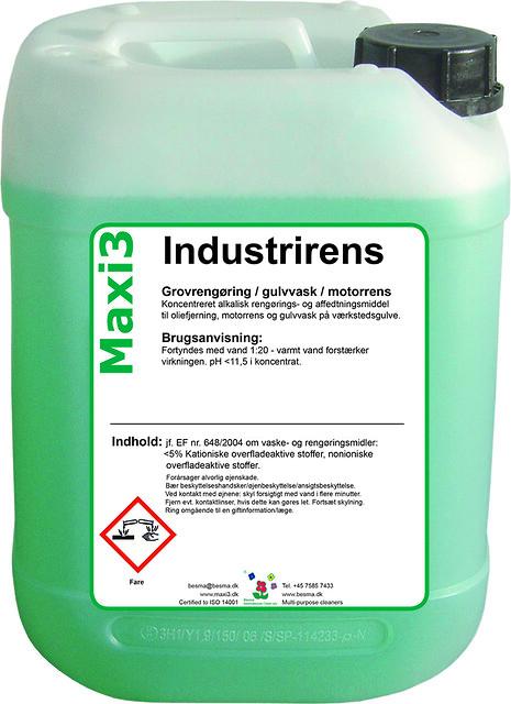 Metalaffedtning  - En grøn løsning - Maxi 3 Industrirens