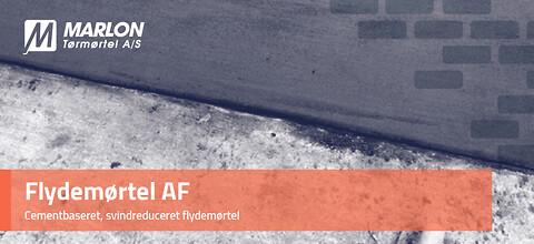 Flydemørtel AF fra Marlon Tørmørtel A/S - Cementbaseret, svindreduceret flydemørtel