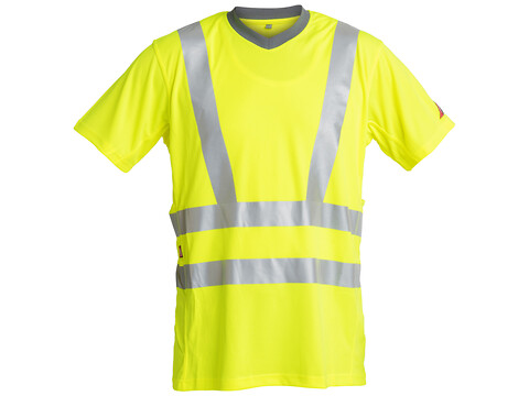 T-shirt SAFETY EN 471 KL.3 GUL - STR. S