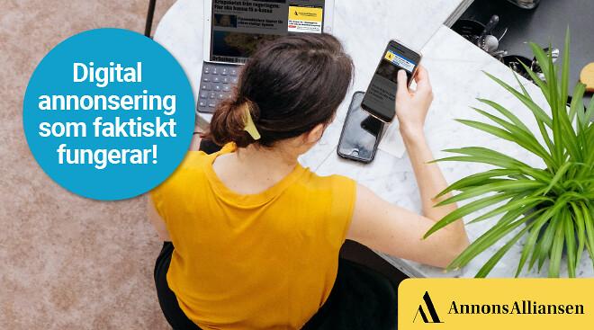Testa ett nytt sätt att \nannonsera digitalt!\n