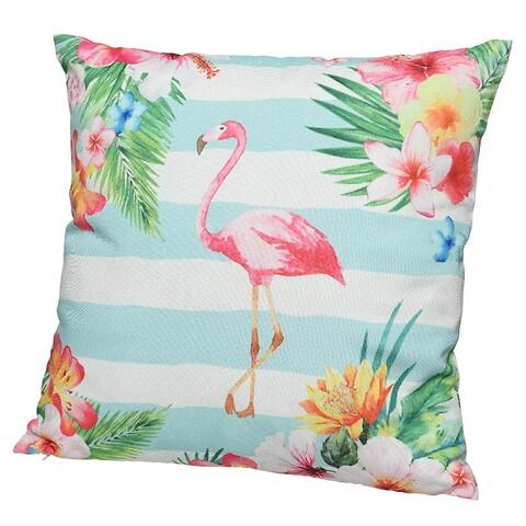 Pude med flamingo motiv, 45x45cm