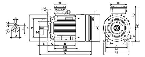 Ie3 ElektromotorHMC3 160M2 2p B35 IE3