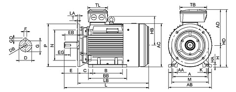 Ie3 ElektromotorHMC3 160L 4p B35 IE3