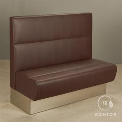 Pedrali modus loungesofa i brunt læder.