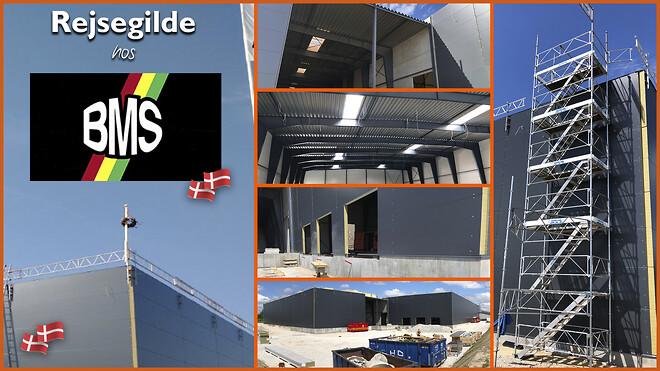 Rejsegilde hos Becher-Madsen. 2 nye lagerhaller under opførelse.