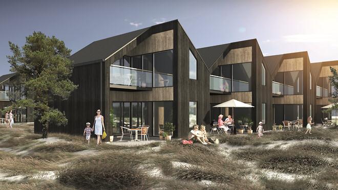 62 splinternye feriehuse er under opførelse ved Mullerup Havn. Pælefunderingen er netop ved at være afsluttet, og nu kan projektet tage næste skridt i forløbet.
