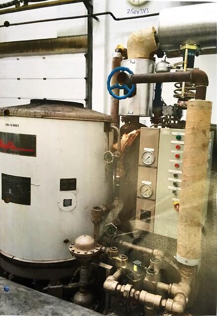 Dampgenerator 1100 kg/h x 13 bar fra Chr. Møller A/S's Brugtbørs