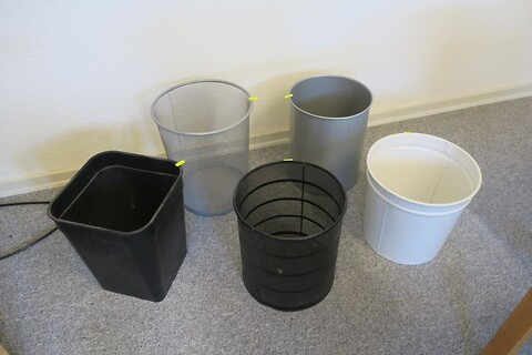 5 stk. affaldsspande