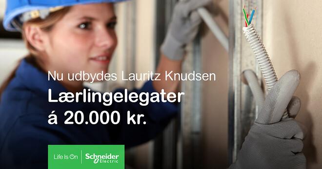 Lauritz Knudsen udbyder Lærlingelegat
