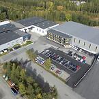 Flygfoto fabrik