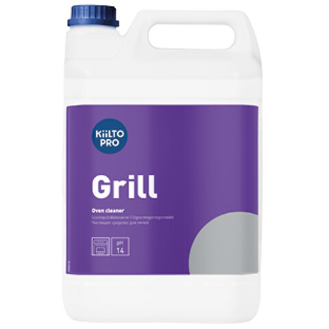 Kiilto Grill - rengøring af ståloverflader i ovne og grill.
