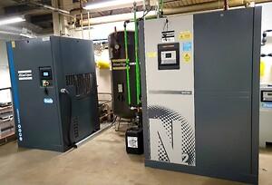 Kompressor och kvävgasgenerator från Atlas Copco.