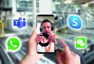 \nBevegelsesplastspesialister fra igus støtter personlig og gir råd gjennom et bredt spekter av digitale kommunikasjonskanaler. (Kilde: igus GmbH)