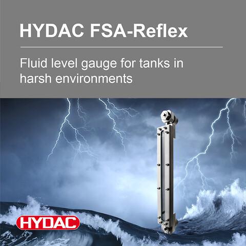 Hydac Nivåglass for væsketanker - Nivåglass, hydraulikk, dieseltanker, hydraulikksystem