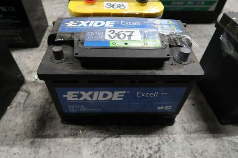 Batteri exide 12V 74 ah