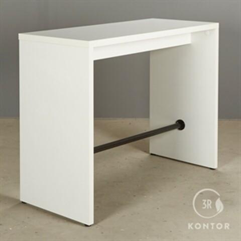 Højbord. hvid laminat med sort afstiver i bunden. 140x60