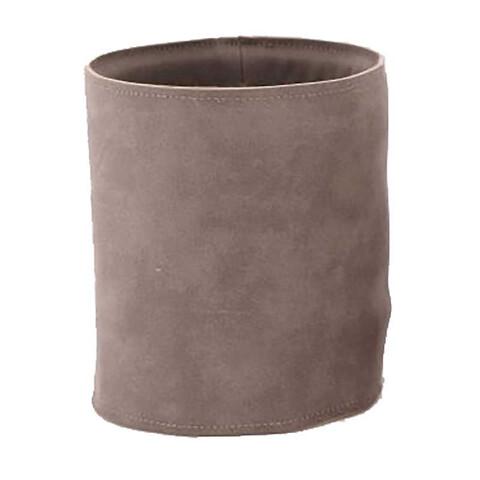 Potteskjuler i læder, Ø12,5cm, grå