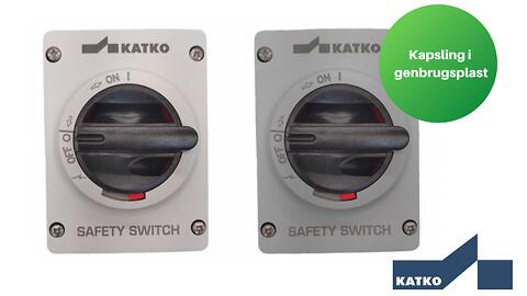 Nye kapslinger i genbrugsplast på KATKO's ABS-afbrydere - Nye kapslinger i genbrugsplast på KATKOs ABS-afbrydere
