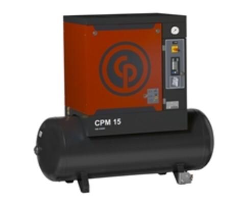 CP Skruekompressor 5,5kw, 8bar, 230V med 200l tank og kjøletørke