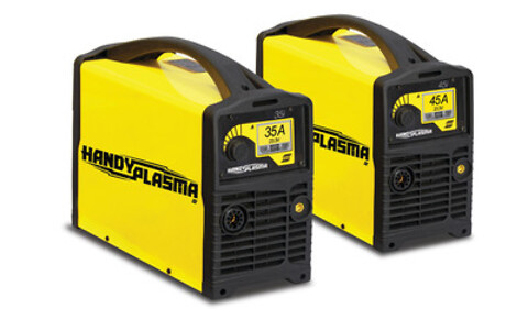 HandyPlasma 35i og 45i er 1- fas nykommere i ESABs serien for håndholdte plasmamaskiner.