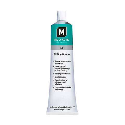 MOLYKOTE 55 smørefedt, Off-white, tube 100 g