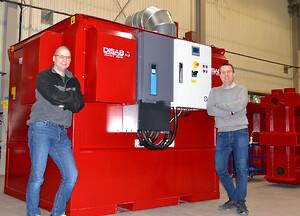 Konstruktör Mathias Bergström (tv) och Teknikchef Mattias Pettersson (th)