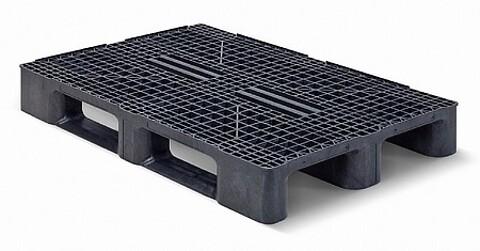 Plastpalle type HR3RR - m/3 meder m/kanter