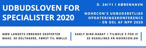 Udbudsloven for specialister 2020 - Udbudsloven for specialister 2020 - Nohrcon - udbudskonference