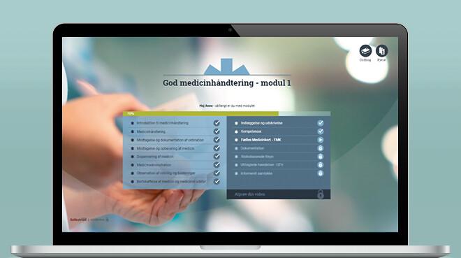 E-learning i korrekt håndtering af medicin til ansatte i sundhedssektor