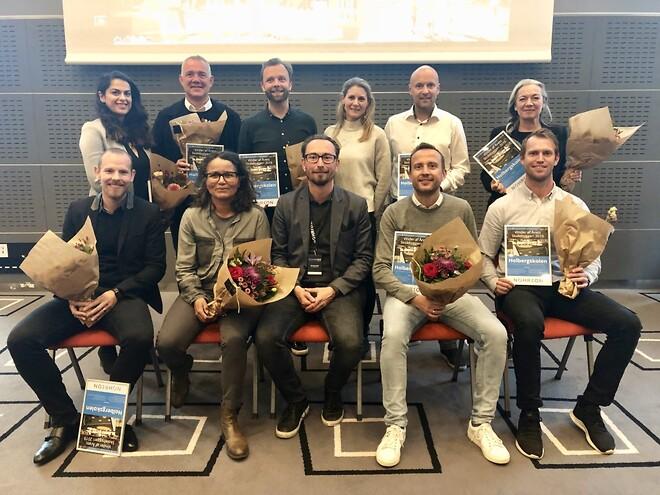 Kåring af Årets skolebyggeri 2019 - Holbergskolen - repræsentanter fra projektteamet