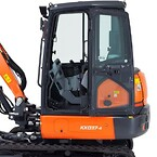 Kubota KX037-4 3,6 ton minigraver. Forbedret kabineplads