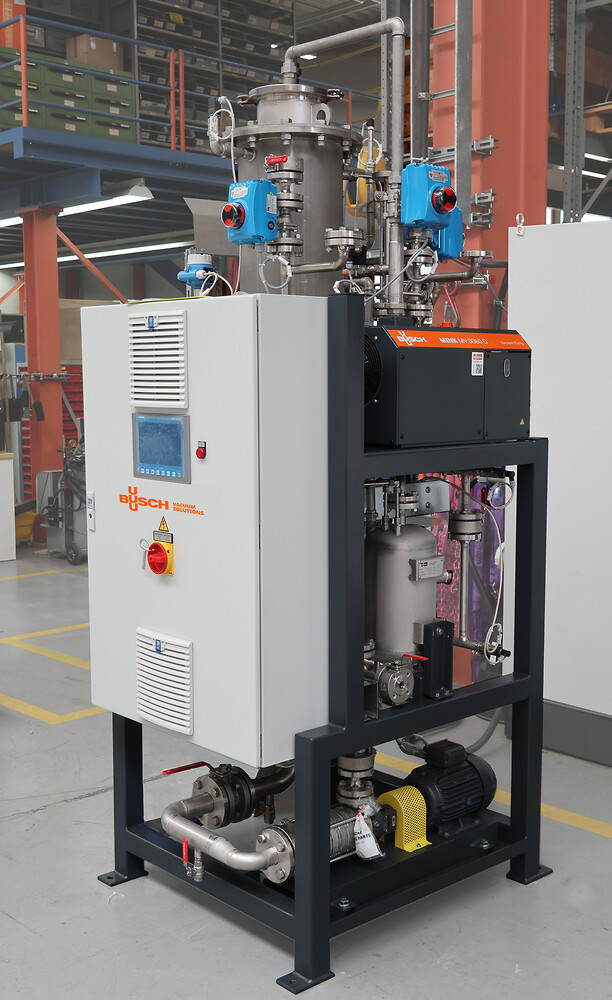 Avgasningssystem för varmvatten med  frekvensstyrd MINK klovakuumpump