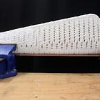 Turbinbladet i materialet FLAM är världens första storskaliga 3D-print av enbart naturliga polymerer.