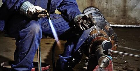 Flammeskæring af sorte stålkvaliteter.