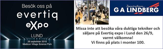 Evertiq Expo i Lund, kom och träffa oss på G A Lindberg!