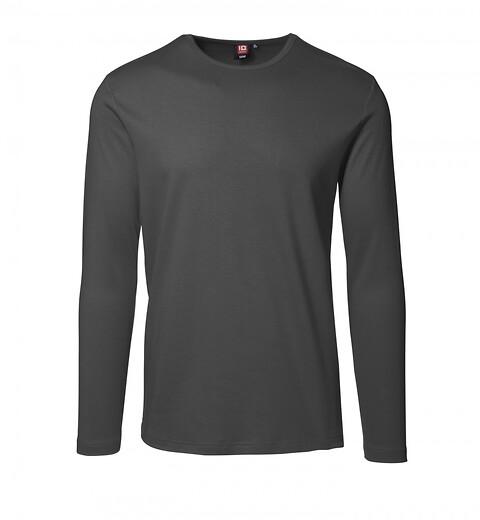 T-shirt, langærmet, koksgrå - 8522
