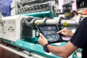 IoT, AI og digital factory mapping. Kunstig intelligens.