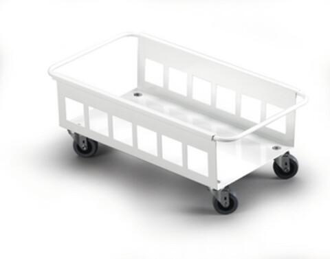 Traller til enkelt 60 l - hvid - m/4 drejhjul