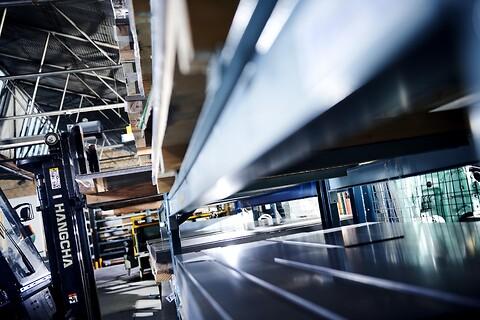 Robuste reoler - Robuste stål reoler palle reoler storfags reoler og gren reoler og kundespecifikke reoler fra Skov Industri A/S