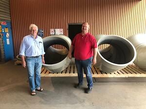 Nordfab levererar rörsystem för processventilation i olika storlekar.