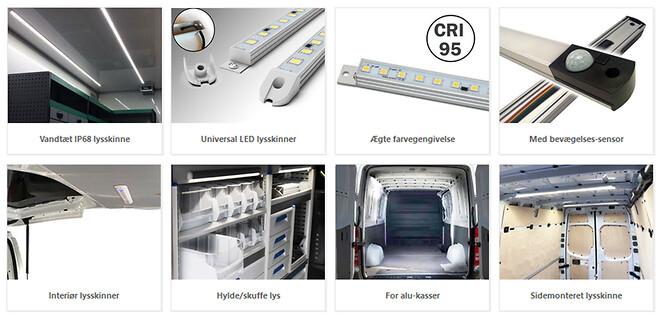 interiør LED lysskinner