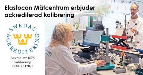 Elastocon Mätcentrum erbjuder ackrediterad kalibrering