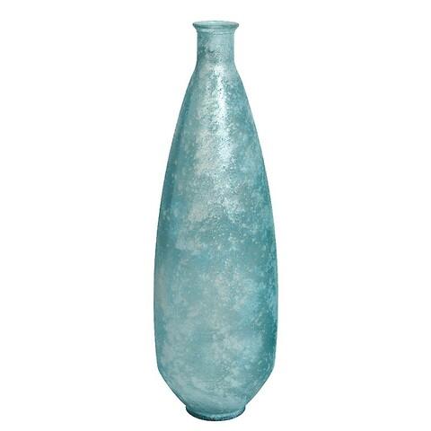 Høj smal vase, antik look, lyseblå, H:80cm