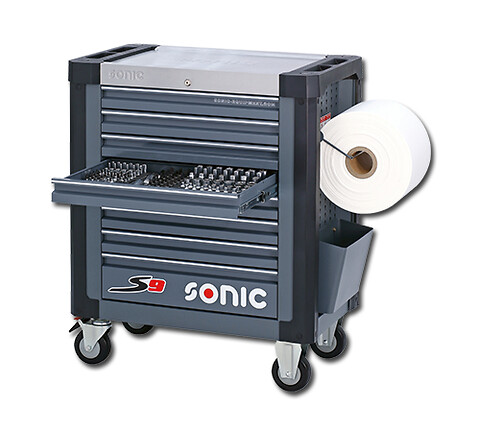 SONIC vogn S9 m. 251 stk. værktøj!    - Sonic, værkstedsvogn, værktøj, værktøjsvogn, S9, skuffer, katalogholder, centrallås,