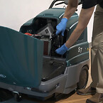 Tennant S7 gå-bakom sopmaskin Clean machine 7